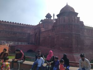 red fort out side view